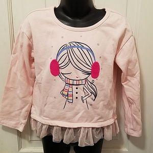 Gap Kids Toddler Pink Fleece Pullover Top 5T
